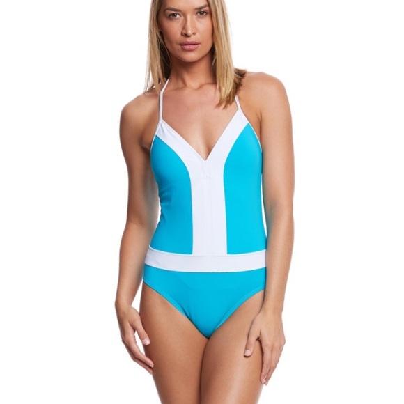 11e1d6d8a7a Bleu Rod Beattie Swim   Solids Plunge Halter Mio Onepiece   Poshmark
